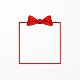 Pilbåge och ram för vektor röd Royaltyfri Fotografi