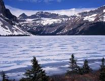 Pilbåge sjö, Alberta, Kanada. Royaltyfria Foton