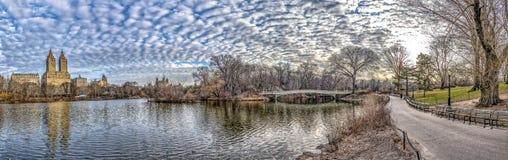 PilbågebroCentral Park Arkivbilder