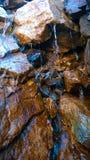 Pilbågedalbanff färger av höstvattenfallet applåderar amfiteatern Royaltyfri Bild