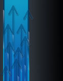 pilbakgrundsstigning royaltyfri illustrationer