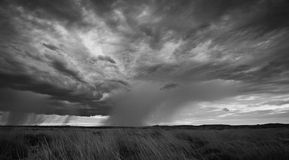 Pilbara storm front. Storm fronts collide in outback Western Australia stock photography