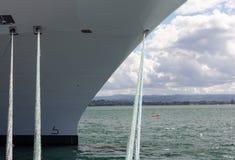Pilbåge av kryssningskeppet i Rotorua NZ Arkivbild