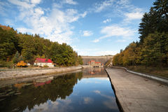 Pilchowice Dam and Canal in Poland Stock Photography