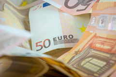 Pile of 50 € Banknotes Royalty Free Stock Photos