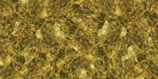 Pile énorme des pièces d'or Images libres de droits