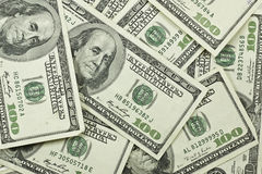 Pile of 100 dollar bills Royalty Free Stock Photography