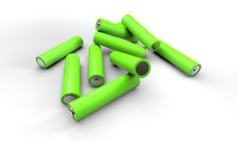 Pile of AA batteries Royalty Free Stock Images
