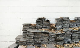Pile of abandoned tiles Stock Images