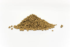 Pile of Akadama Soil. Close Up Detail of a Pile of Akadama Soil Isolated on White Background Royalty Free Stock Photo
