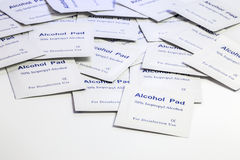 Pile of alcohol pads Royalty Free Stock Photos