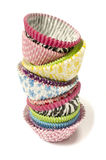 Pile of all colors cupcake paper cups. Stock Photography