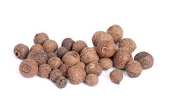 Pile Allspice isolated on white background. Stock Images