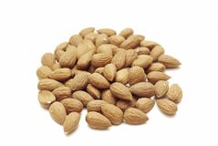 A pile of almonds Stock Photos