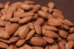 Pile of Almonds. Close up heap of almonds Royalty Free Stock Photo
