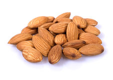 Pile of almonds Royalty Free Stock Photos
