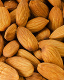 Pile of almonds close-up Stock Photos