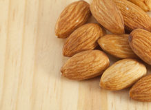 Pile of almonds nuts Royalty Free Stock Images