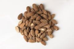 Pile of Almonds - Overhead Stock Image