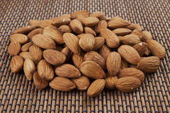 Pile of almonds Stock Images