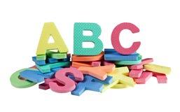 Pile of alphabet blocks Stock Photo