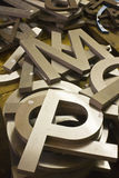 A Pile of Alphabet Letters for Sale. A Pile of Large Alphabet Letters for Sale at an Antique Shop stock photos