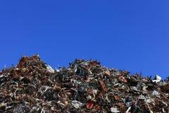 Pile of Aluminium scrap Royalty Free Stock Image