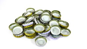 Ring pull of can. Pile of aluminum ring pull of can stock images