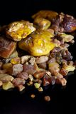 Pile of Amber resin Stock Photo