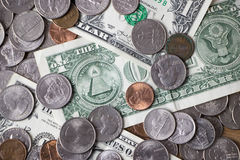 Pile of American Currency Closeup royalty free stock image