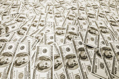 Pile of american dollars Stock Images