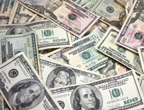 Pile of American money Royalty Free Stock Photo