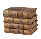 Pile of ancient books Stock Photos