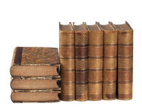 Pile of ancient books Royalty Free Stock Photo
