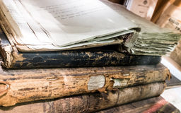 Pile of ancient books Stock Photography