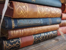 Pile of antique books Stock Photo