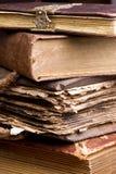 Pile antique de livres Images libres de droits