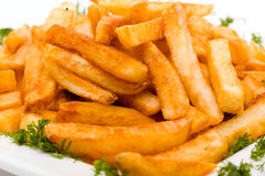 Pile of appetizing french fries Stock Images