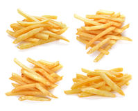 Pile of appetizing french fries. On a white background Royalty Free Stock Photography