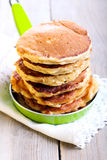 Pile of apple pancakes Royalty Free Stock Photos