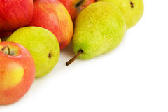 Pile of Apples and pears Royalty Free Stock Photos