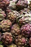 Pile of Artichoke wale in Jerusalem. Bazaar Stock Photos