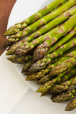 Pile of asparagus Stock Photography
