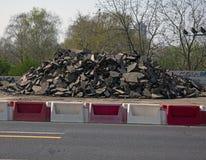 Pile of asphalt royalty free stock photography