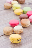 Pile of assorted macaroons Royalty Free Stock Photo