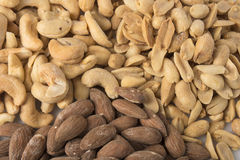 Pile of assorted nuts Stock Photos