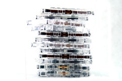 Pile of audio tapes Stock Images