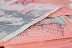 Pile of Australian Twenty Dollar Banknotes Royalty Free Stock Photos