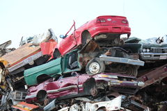 Pile of Automobiles Royalty Free Stock Photos
