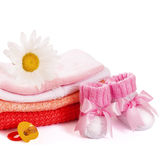 Pile baby clothes Stock Images